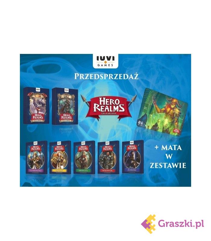 Hero Realms Pakiet: Zestawy Bohaterów i Talie Bossów + mata (Przedsprzedaż)